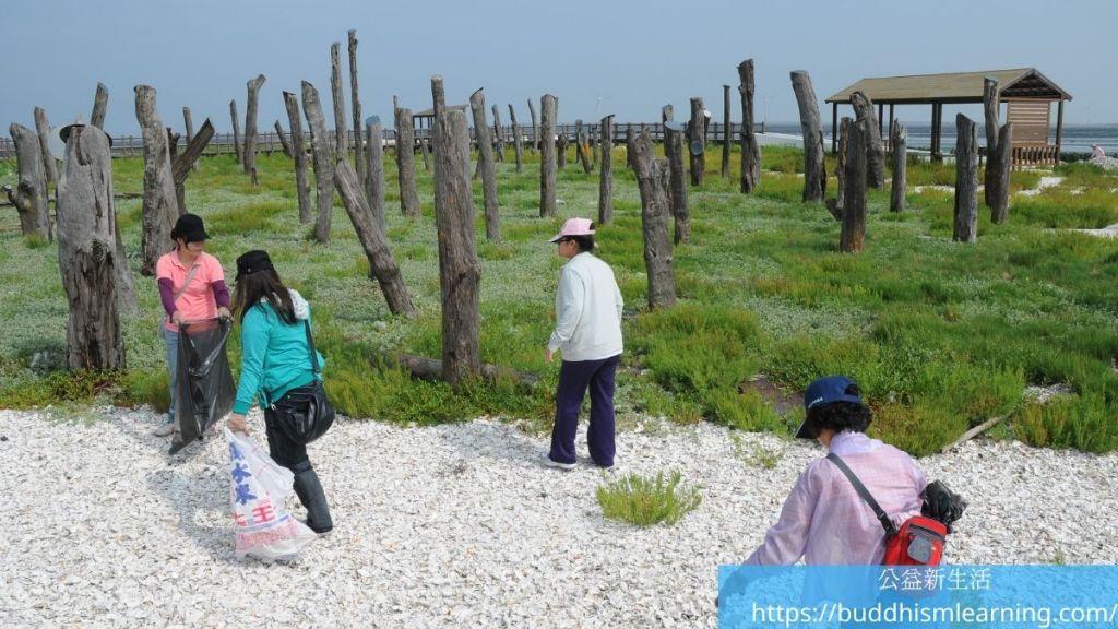 公益活動:福寶濕地淨灘、賞鳥、生態教學