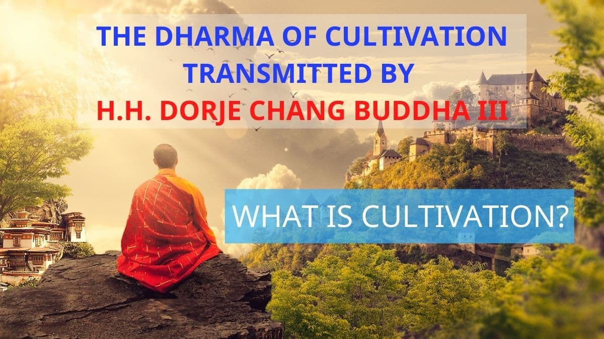 THE DHARMA OF CULTIVATION TRANSMITTED BY H.H. DORJE CHANG BUDDHA III